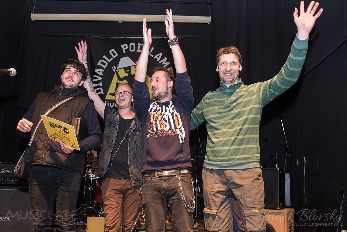 Vítězná kapela Unlucky Funkers