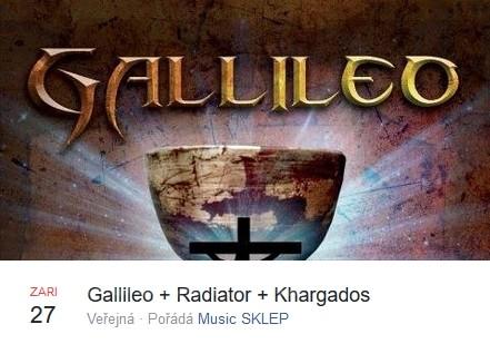 Gallileo, Radiator a Khargados rozjedou rockový koncert ve Sklepě!