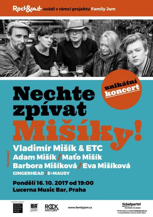 Nový koncertní projekt Family Jam přivede poprvé na jedno pódium celou rodinu Mišíků