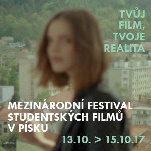 Sedmnáctý ročník Mezinárodního festivalu studentských filmů v Písku chystá atraktivní program a otevírá se široké veřejnosti