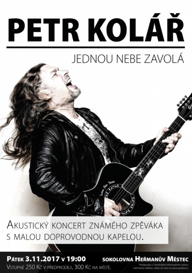 Akustický koncert zpěváka Petra Koláře