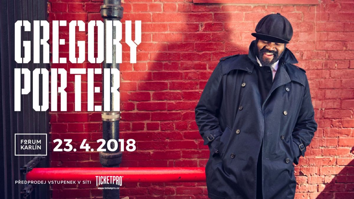 Americký zpěvák Gregory Porter vydává nové album  a ohlašuje koncert v Praze