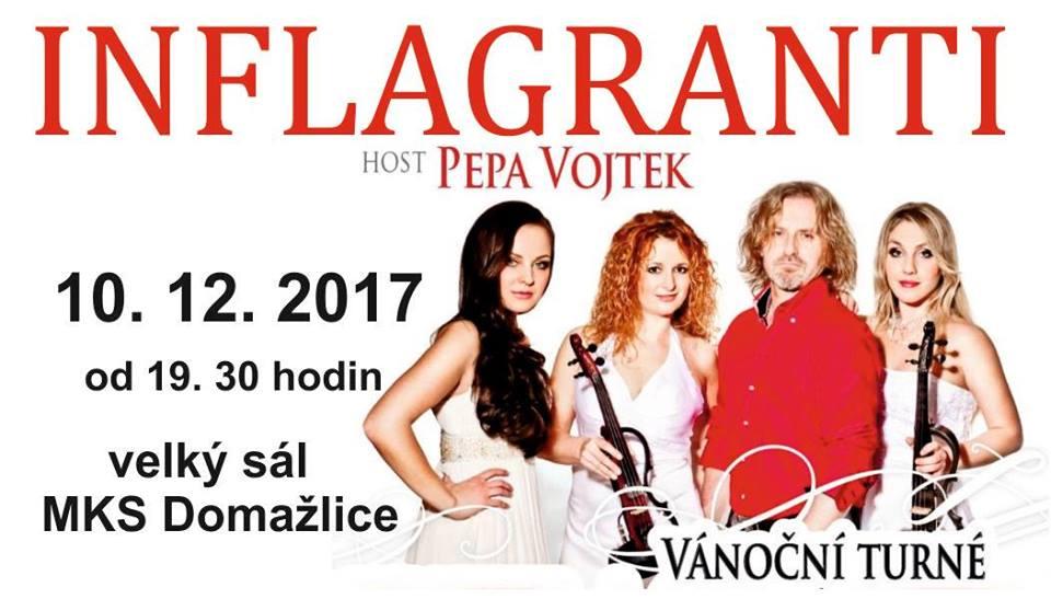 Vánoční koncert tria Inflagranti s hostem Josefem Vojtkem v Domažlicích!