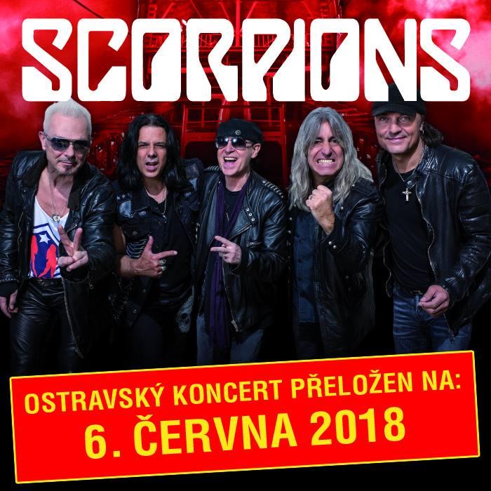 Ostravský koncert Scorpions byl přeložen na červen 2018