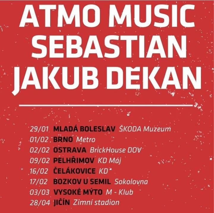 Společná Tour 2018 Sebastian, Atmo music, Jakub Děkan