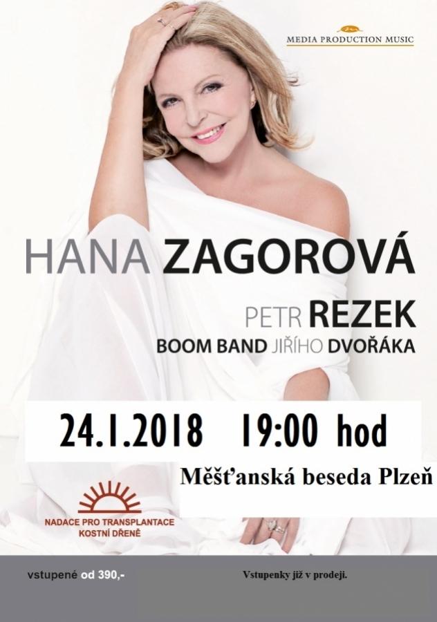 Hana Zagorová vystoupí společně s hostem Petrem Rezkem v Měšťanské besedě Plzeň!