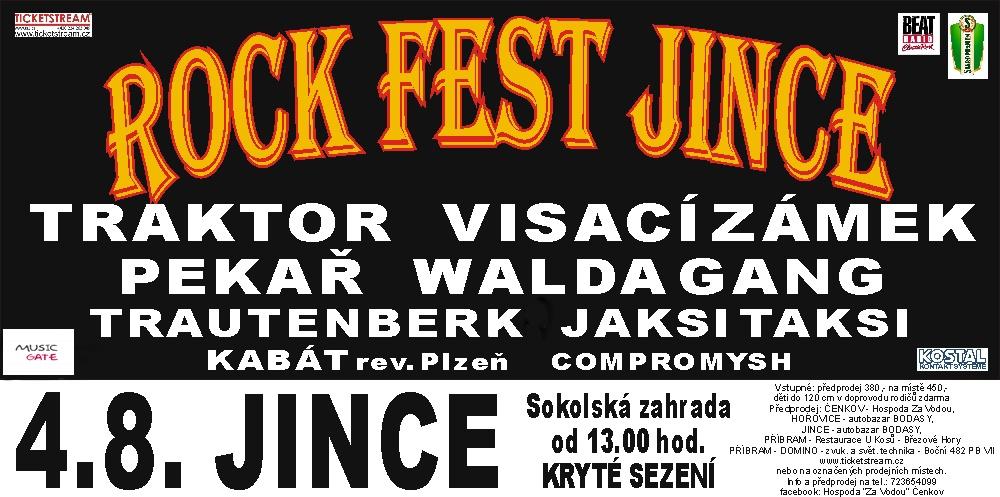 Pátý ročník jednodenního festivalu Rockfest Jince 2018 zná svůj line up.