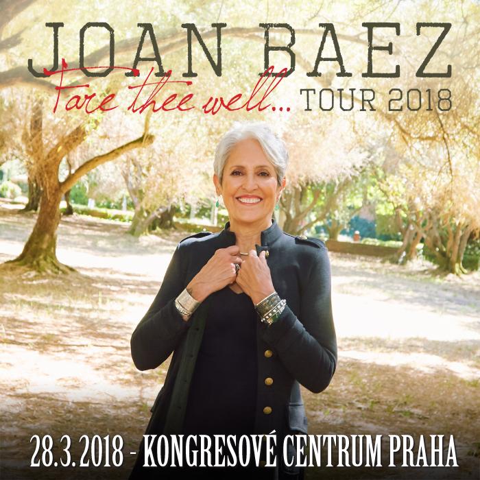 Úspěšná americká písničkářka Joan Baez se v březnu vrátí do České republiky