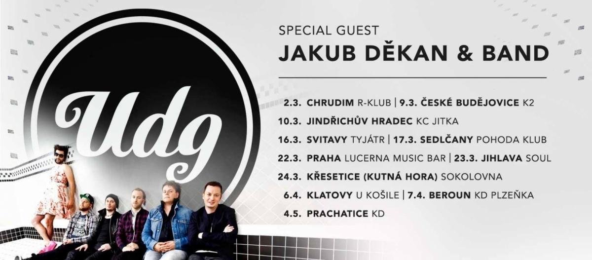 Těšte se, už brzy,… UDG a Jakub Děkan zahajují šňůru po českých klubech!