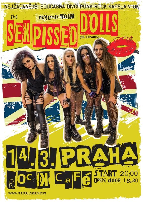 Britské punkerky The Sex Pissed Dolls to rozjedou v Rock Café
