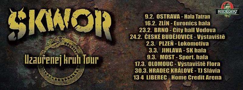 Škwor zahájil své velkolepé turné Uzavřenej kruh Tour!
