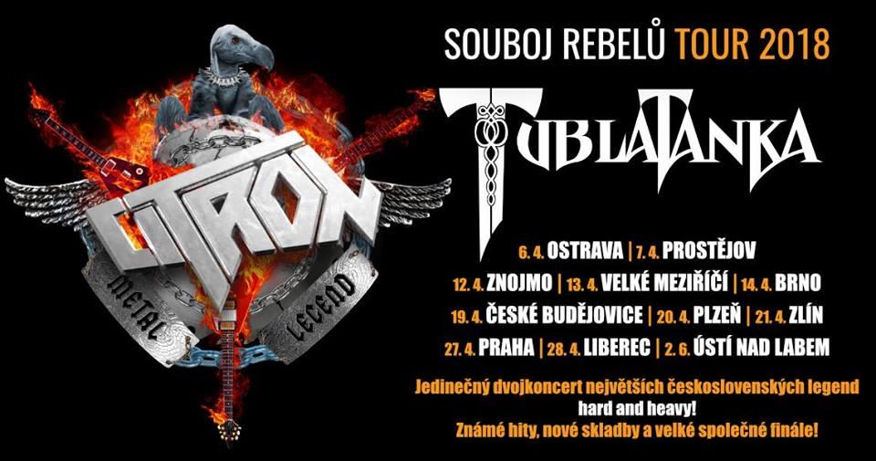 Tublatanka a Citron vyráží v dubnu na turné po Česko-Slovensku a chystají společnou píseň!