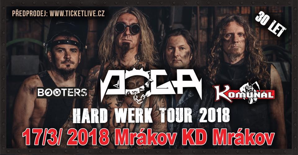 Doga se svým Hard Werk Tour 2018 společně s hosty Komunálem a Booters rozpálí Mrákov u Domažlic