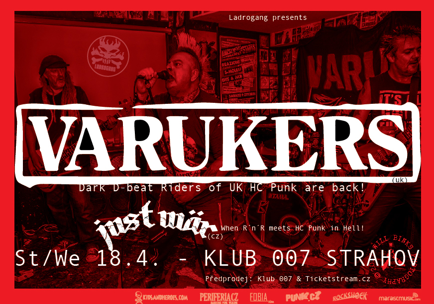 The Varukers a Just Wär  zbourají klub 007