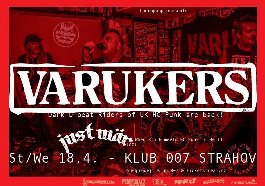 The Varukers a Just Wär  zbourají klub 007