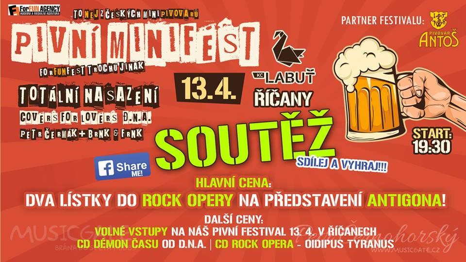 Soutěž o vstupenky Pivní minifest - Pivopění (ForFUN Fest) v Říčanech