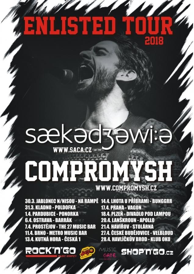 Kapely Sækədʒəwi:ə a Compromysh vyráží na společné ENLISTED TOUR 2018