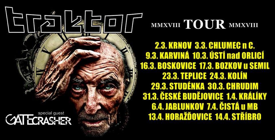 Traktor v rámci turné MMXVIII tour bude společně se skupinou GATE Crasher válcovat KD Horažďovice