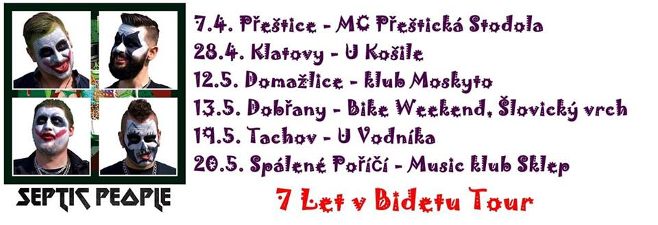 Druhá zastávka 7 let v Bidetu tour bude v Klatovech