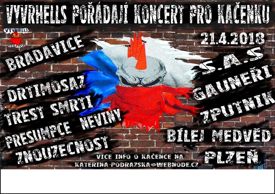 Vyvrhells pořádají koncert pro Kačenku