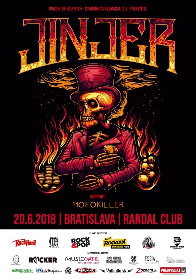 JINJER + supports chytľavá zmes metalcoru, djentu, hardcore & groove metalu !!