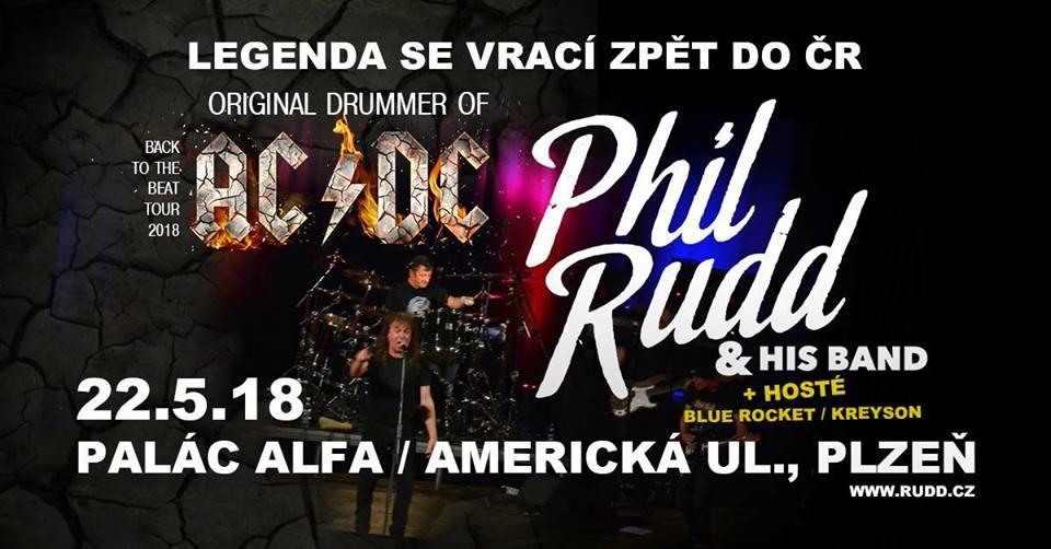 Srdce a duše legendárních AC/DC Phil Rudd & His band se vrací do ČR! Západočeské publikum potěší koncertem v ALFĚ Plzeň!
