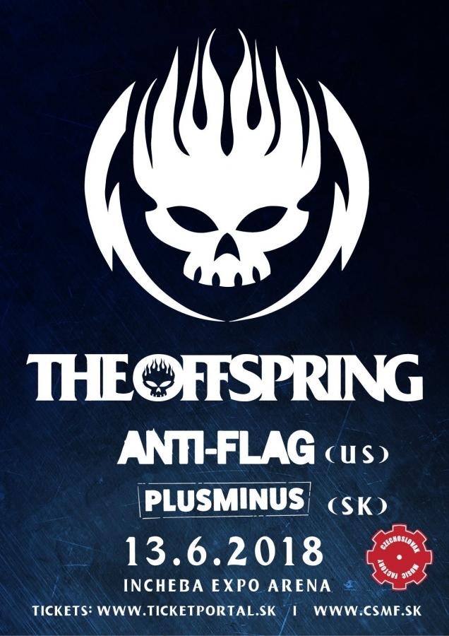Americká punk rocková legenda The Offspring vystoupí v Bratislavě!