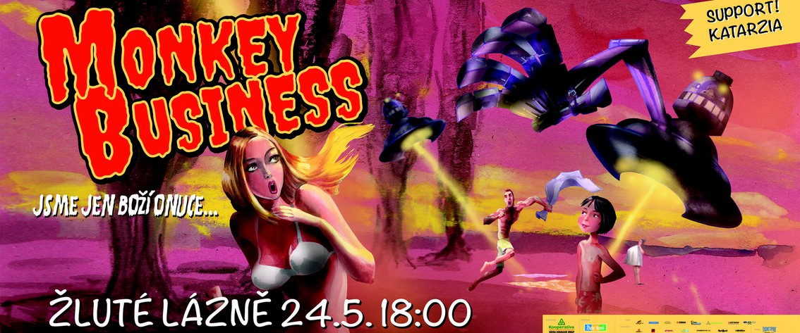 Skupina Monkey Business slaví plnoletost. Večírek s fanoušky s názvem Jsme jen boží onuce chystá v květnu ve Žlutých lázních