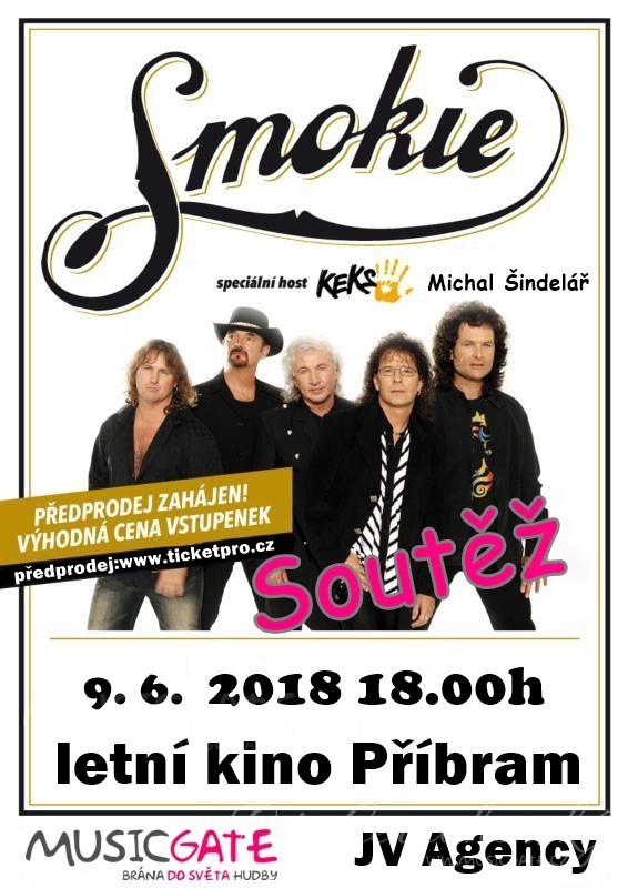 Soutěž o vstupenky na koncert Smokie v Příbrami