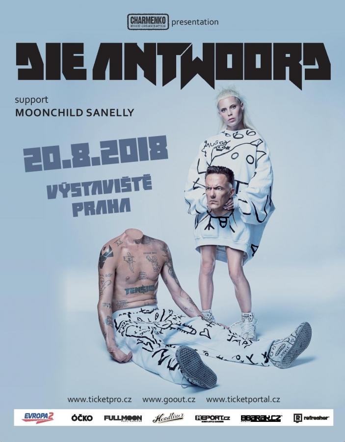 Die Antwoord s sebou v srpnu přivezou do Prahy Moonchild Sanelly, jednu z nejžhavějších současných jihoafrických hvězd.