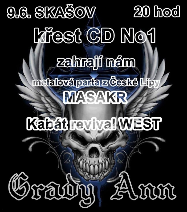 Křest nového CD kapely Grady Ann ve Skašově
