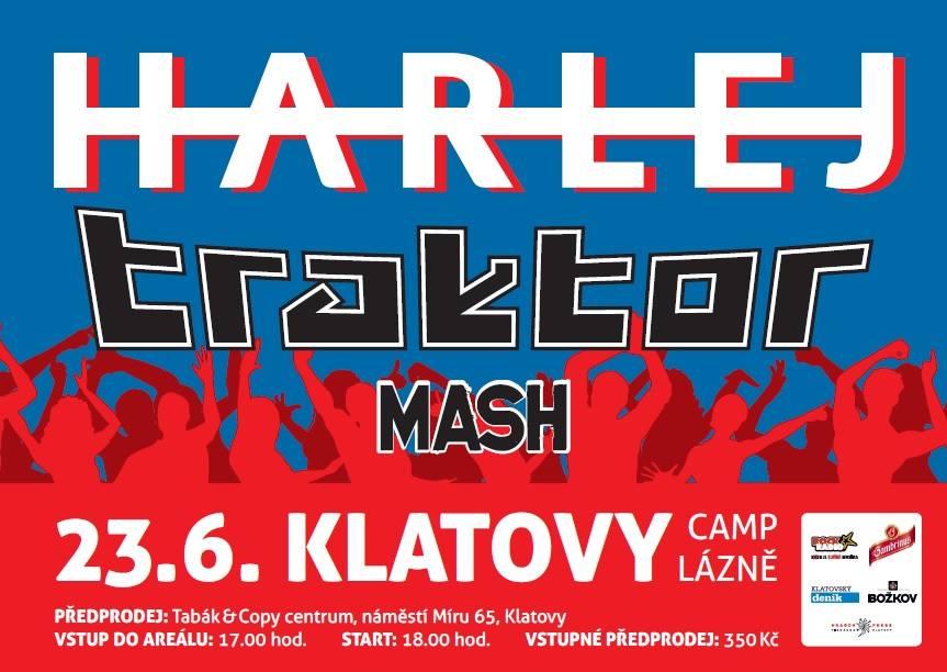 V Klatovech vypukne hudební exploze v podání skupin Harlej, Traktor a Mash