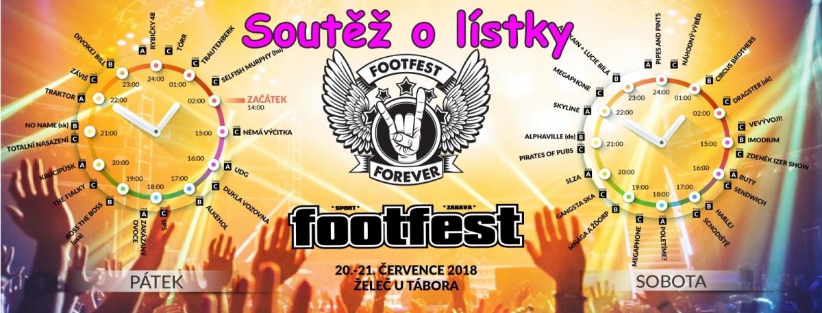 Soutěž o vstupenky na Footfest 2018