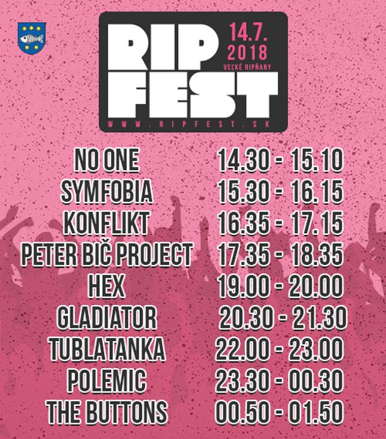 Na RIPfestě ve Velkých Ripňanech zahrají Gladiator, HEX i Peter Bič Project!
