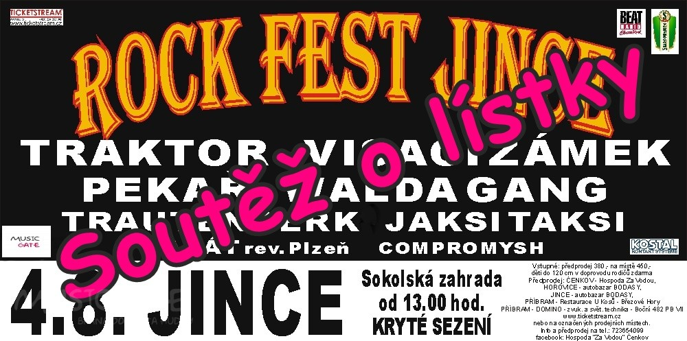 Soutěž o lístky na Rockfest Jince 2018