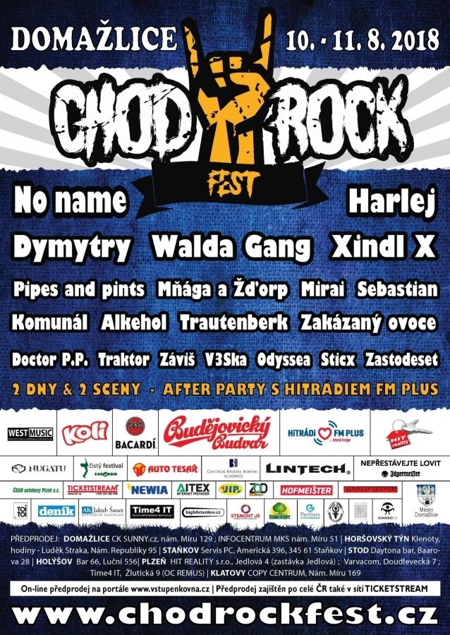Chodrockfest 2018 odpálí svůj 8. ročník ve velkém stylu!