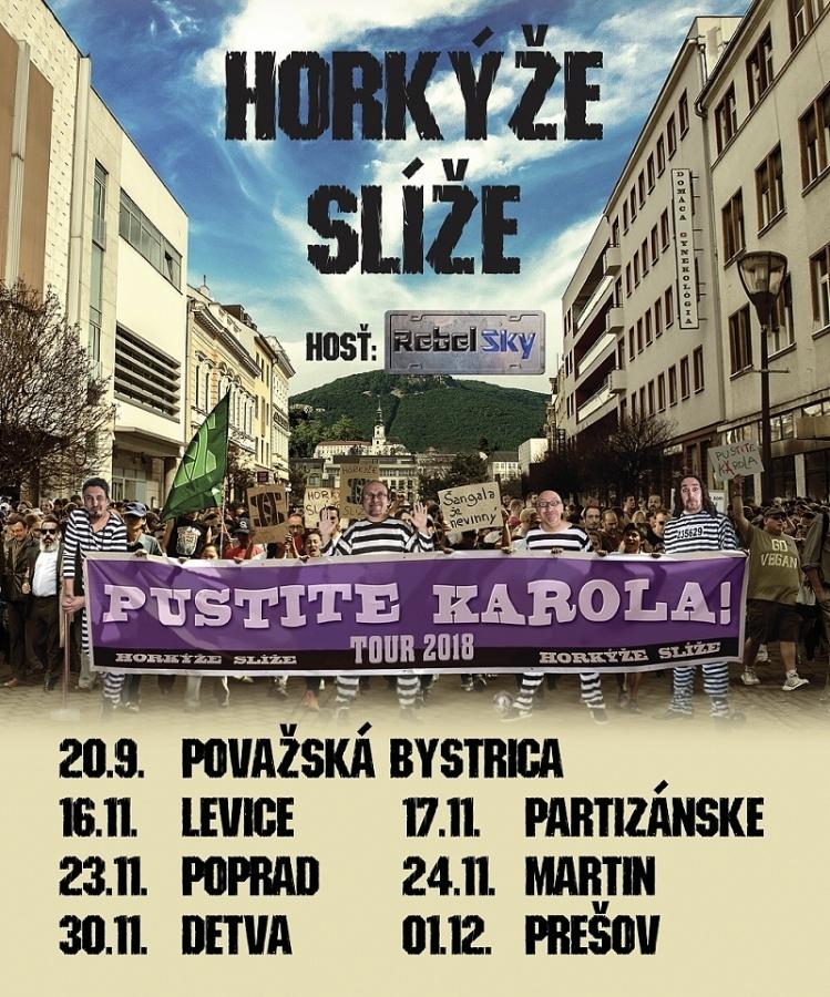 Horkýže Slíže vyrážejí na podzimní část turné Pustite Karola tour 2018