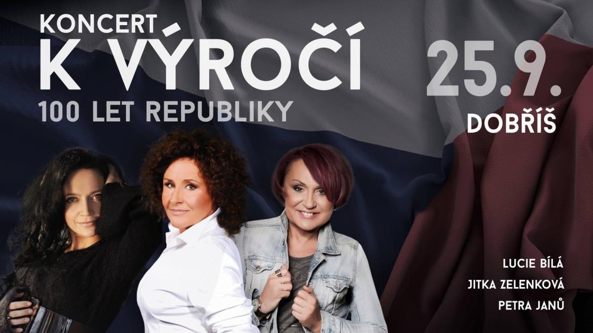 Soutěž o vstupenky na koncert k výročí 100 let republiky na Dobříši