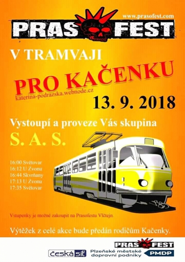 Punkový koncert prověří odolnost plzeňské tramvaje