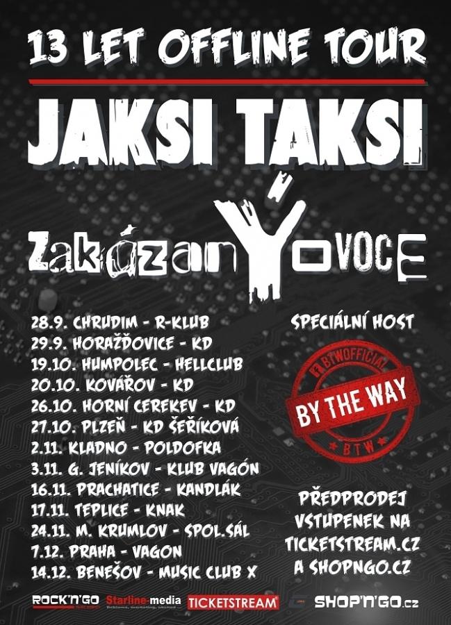 Kapely zakázanÝovoce a JAKSI TAKSI vyráží na společné podzimní turné