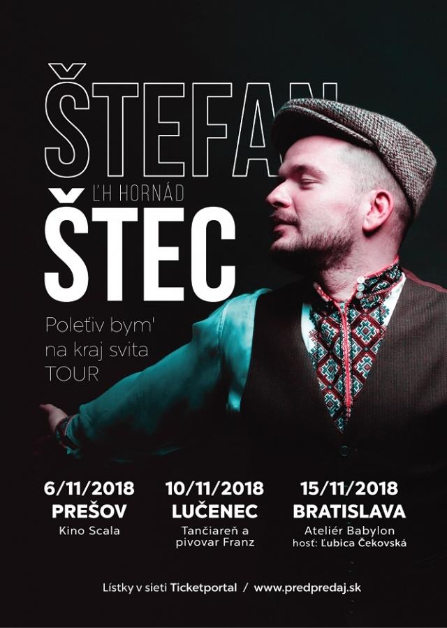 Štefan Štec vyráží na první slovenské turné, pozval si na něj Ľubicu Čekovskou a Petra Biče