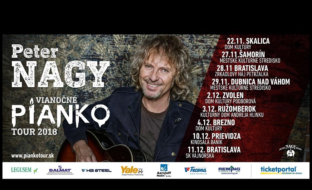 Peter Nagy si na devět PIANKO koncertů bere 50 Žiráf!