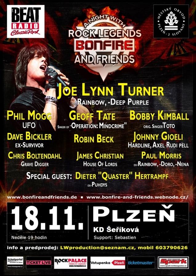 Plzeň zažije metalové zemětřesení s legendou Bonfire a speciálními hosty v KD Šeříková Plzeň!