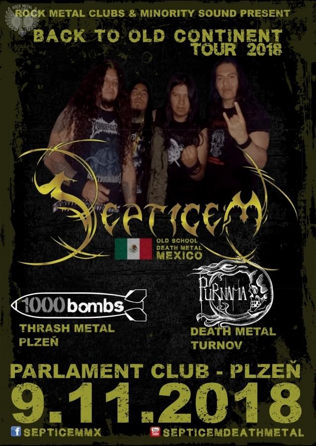 Mexická death metalová parta Septicem se vrací na starý kontinent