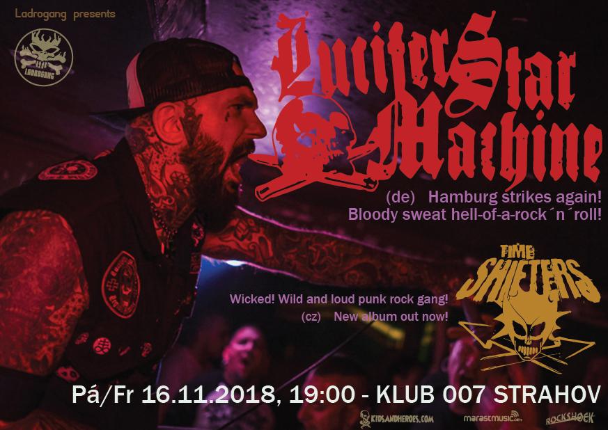 Lucifer Star Machine s Time Shifters v Praze na Sedmičce