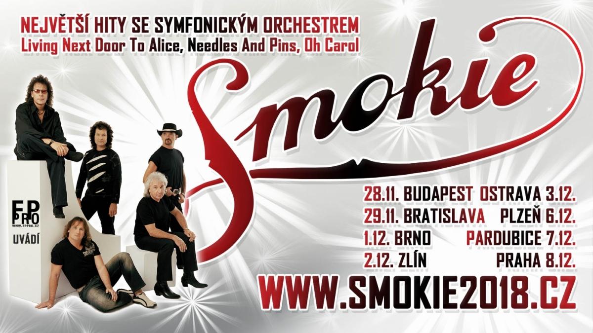 Soutěž o lístky Smokie v rámci THE SYMPHONY TOUR 2018 do Zlína