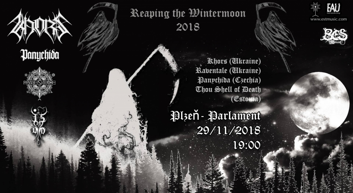 Black metalový Reaping The Wintermoon 2018 zavítá do Parlament Clubu Plzeň