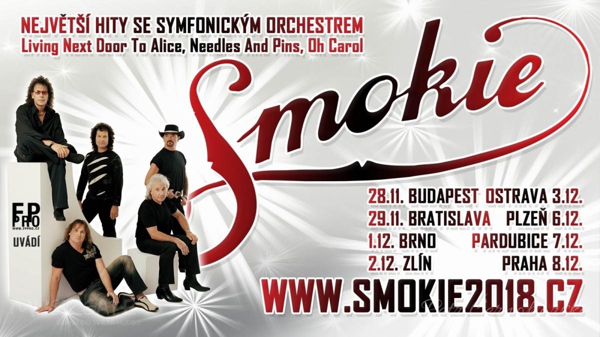 Soutěž o lístky Smokie v rámci THE SYMPHONY TOUR 2018 na 3.12. do Ostravy