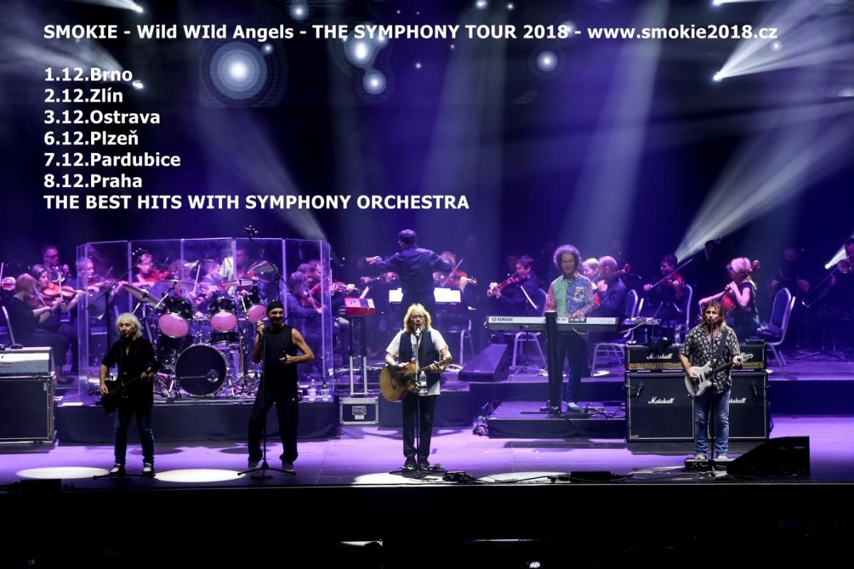 Soutěž o lístky Smokie v rámci THE SYMPHONY TOUR 2018 na 7. 12. do Pardubic