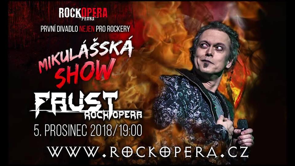 Soutěž o volňásky na pekelné představení Faust s Mikulášskou nadílkou v RockOpeře